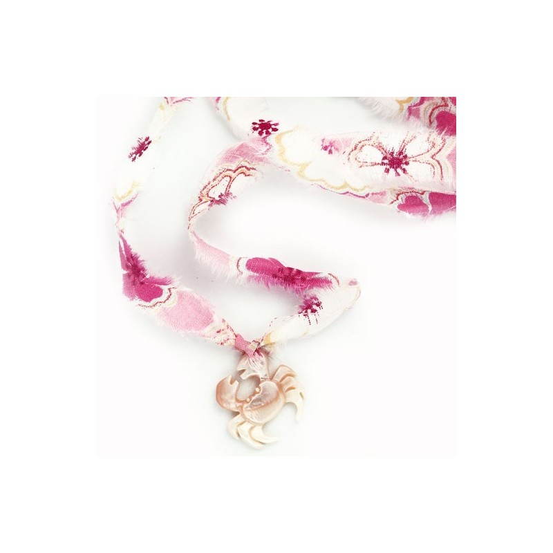 Pink crab liberty bracelet