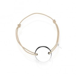 Silver medal bracelet