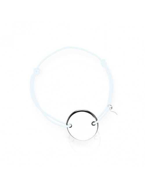 Bracelet médaille argent personnalisé homme