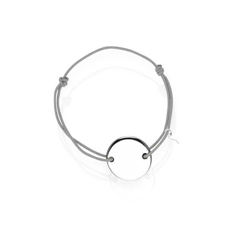 Silver medal bracelet personalized man
