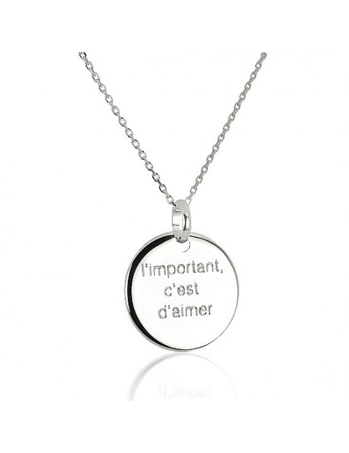 Necklace silver medal personalized man