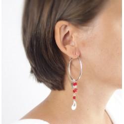 boucles d'oreilles argent goutte tige 925