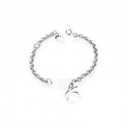 Bracelet rabbit silver personalized child
