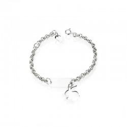 Bracelet rabbit silver personalized child