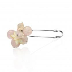 Brooch pin cluster roses