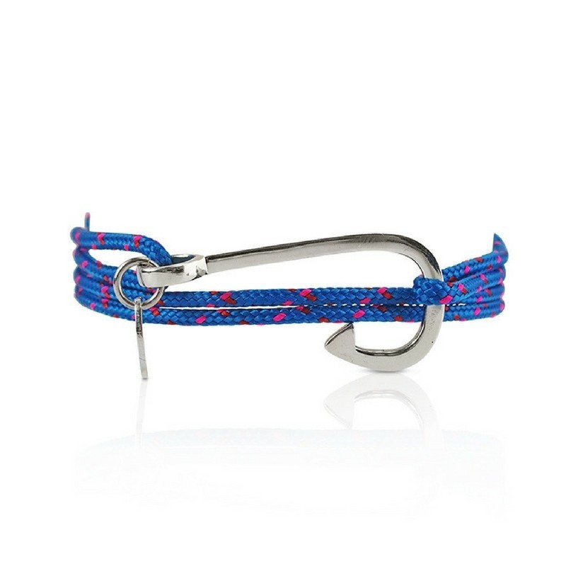 Silver hook bracelet man