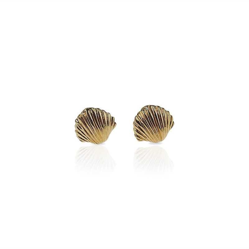 Vermeil seashell earrings