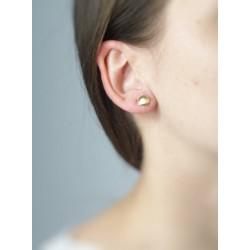 Boucles oreilles coquillage vermeil