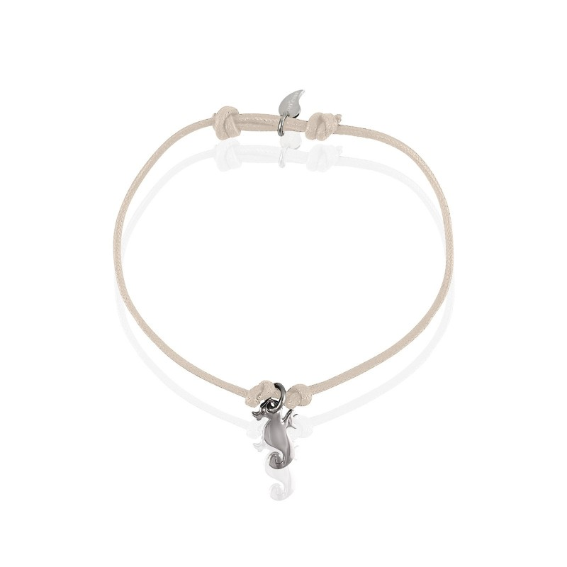 Silver seahorse bracelet woman