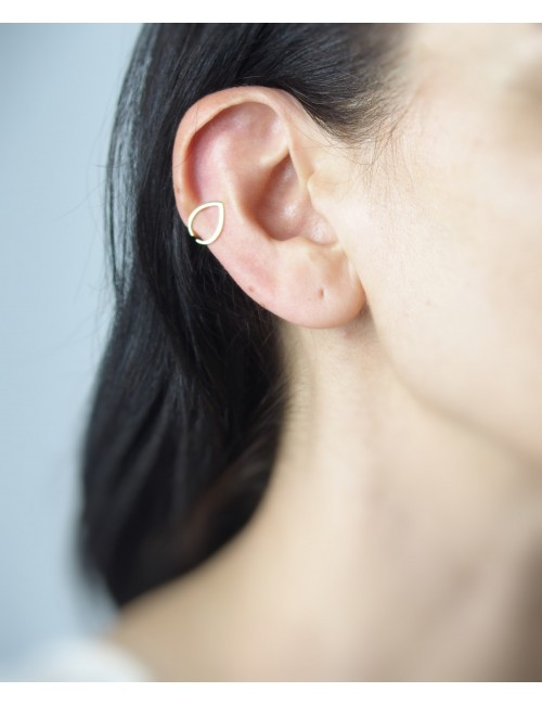 Water drop cartilage earring