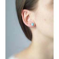 Boucles oreilles gouttes turquoise