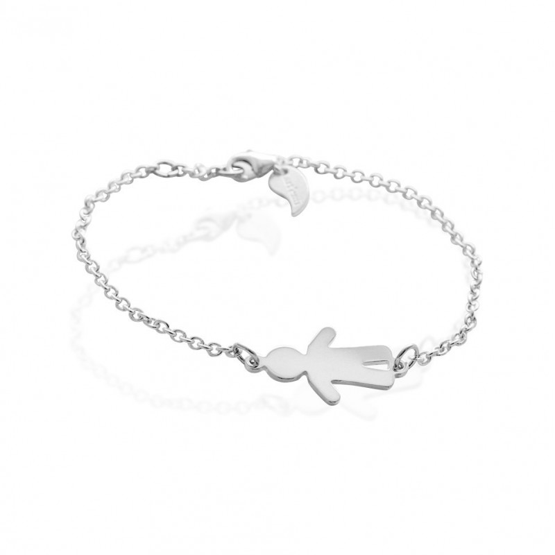 Curb bracelet character boy personalized woman