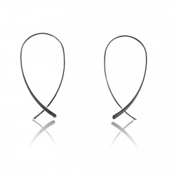 Wire hoop drop earrings