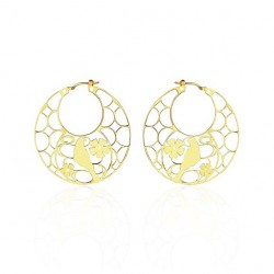 Vermeil bird earrings