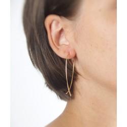 Wire hoop drop earrings