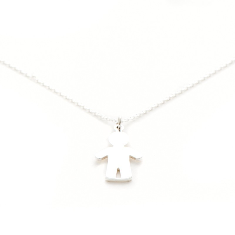 Toddler silver necklace