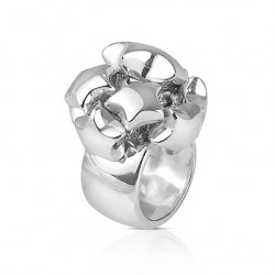 Wilde silver and star ring for women