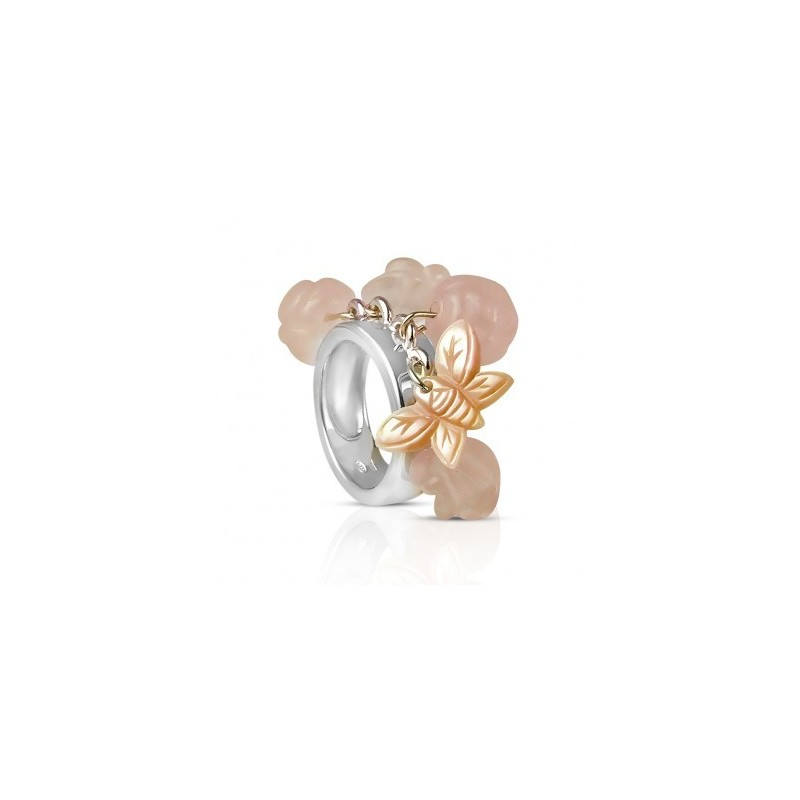 Cluster roses ring charm