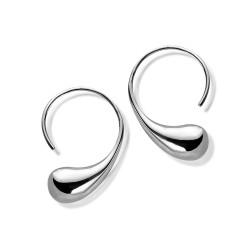 Silver drops earrings hook