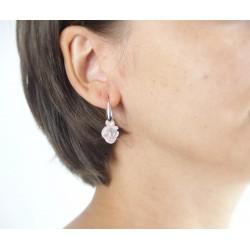 Boucles d'oreilles argent fleur de rose