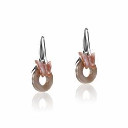 Boucles d'oreilles argent multi papillon