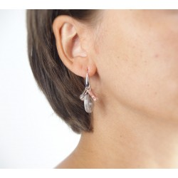 Mother of pearl butterfly earrings