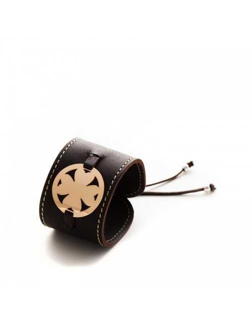 Bracelet de manchette en cuir femme