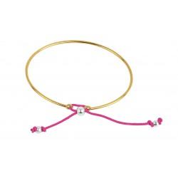 Bracelet esclave plaqué or femme
