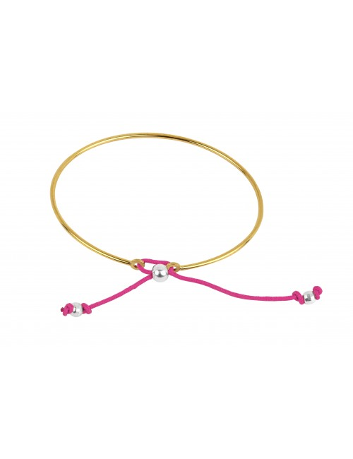 Rigid gold plated bracelet woman