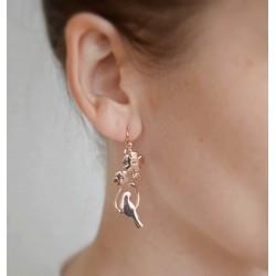 Boucles oreilles pendantes oiseaux