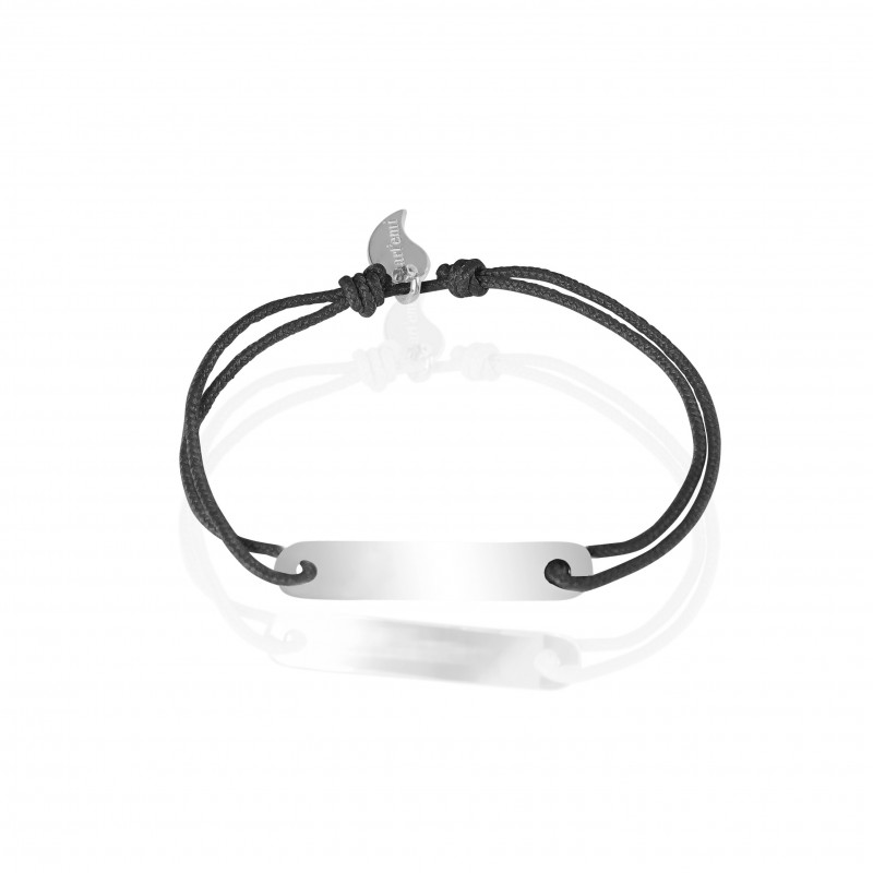 Curb bracelet ID first name silver personalized man